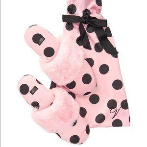 Victoria's Secret Polka dot Slippers